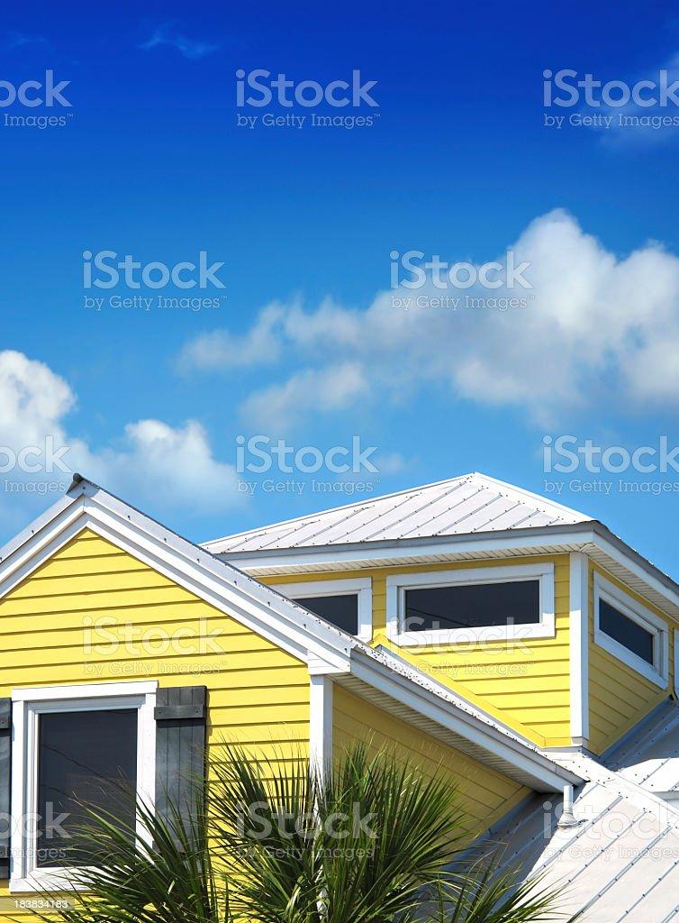 yellow siding house royalty-free stock photo