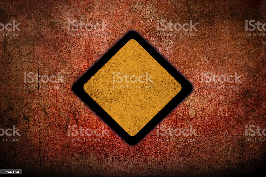 Yellow Sign royalty-free stock photo