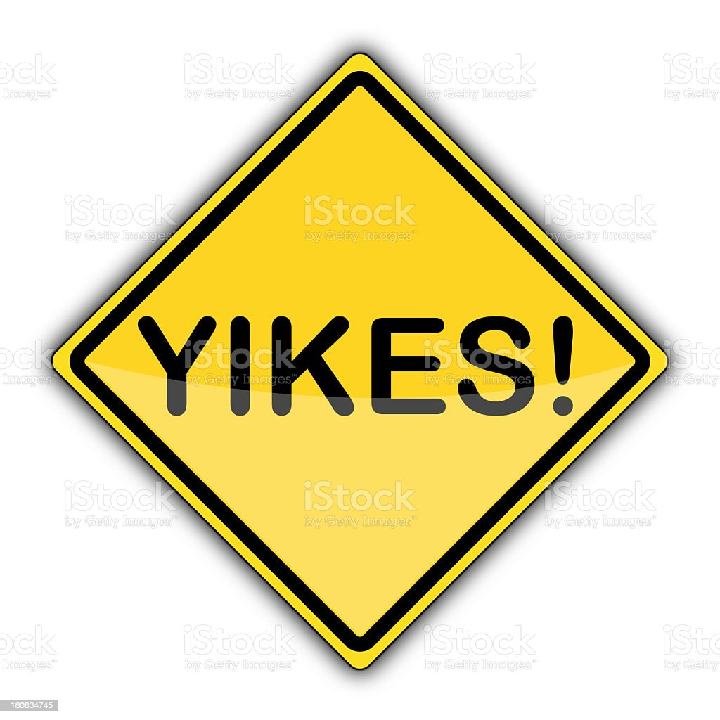 Yellow Sign | Yikes! stock photo