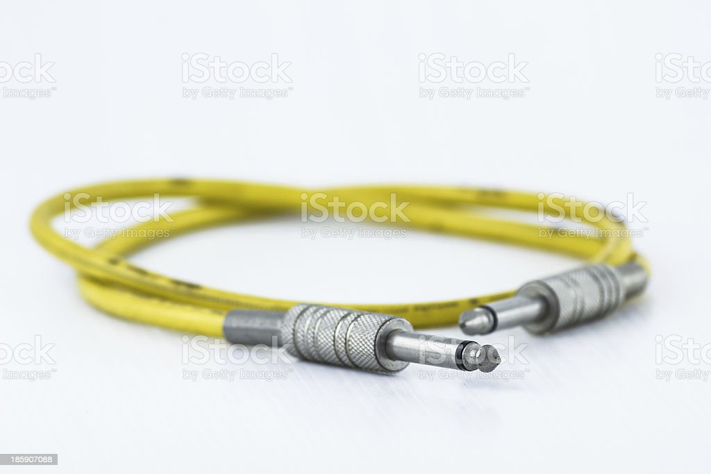 Yellow signal cable royalty-free stock photo