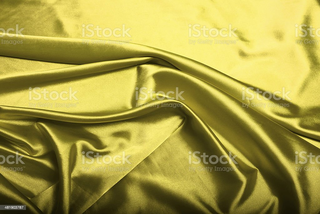 Yellow silk background royalty-free stock photo