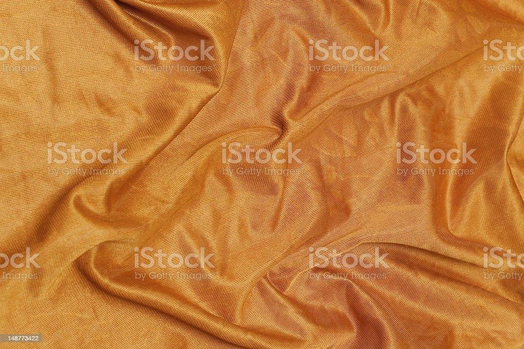 Yellow silk cloth royalty-free stock photo