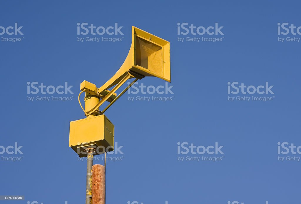 Yellow Siren stock photo