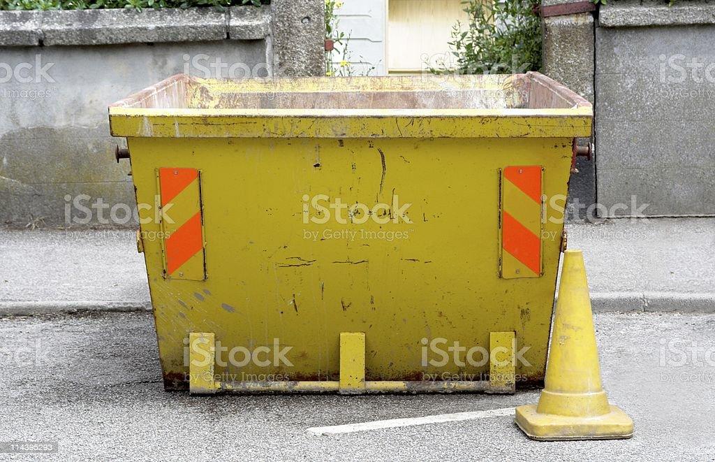 Yellow Skip stock photo