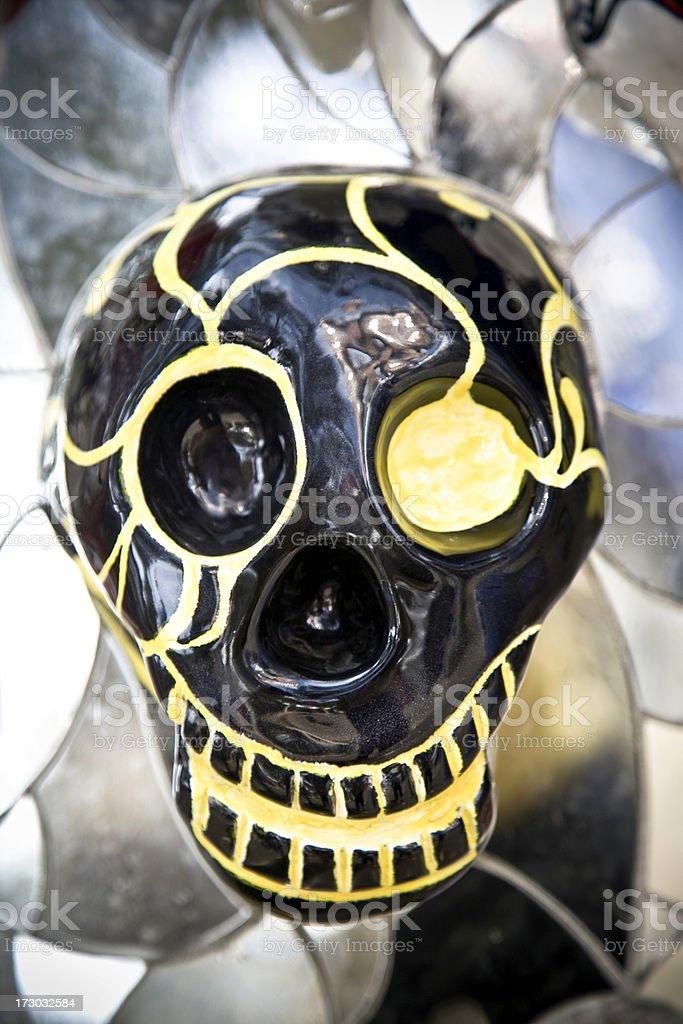 Yellow Skull royalty-free stock photo