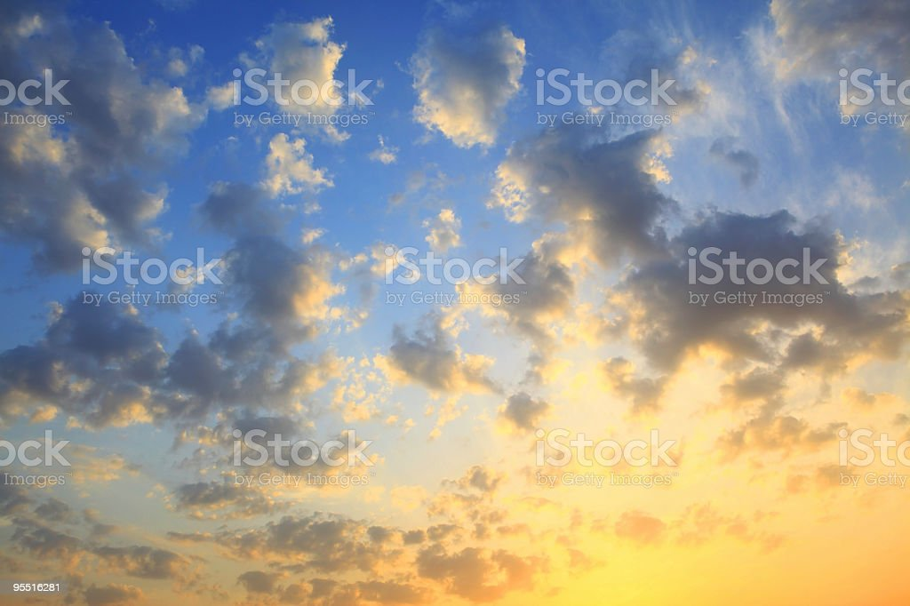 yellow sky stock photo