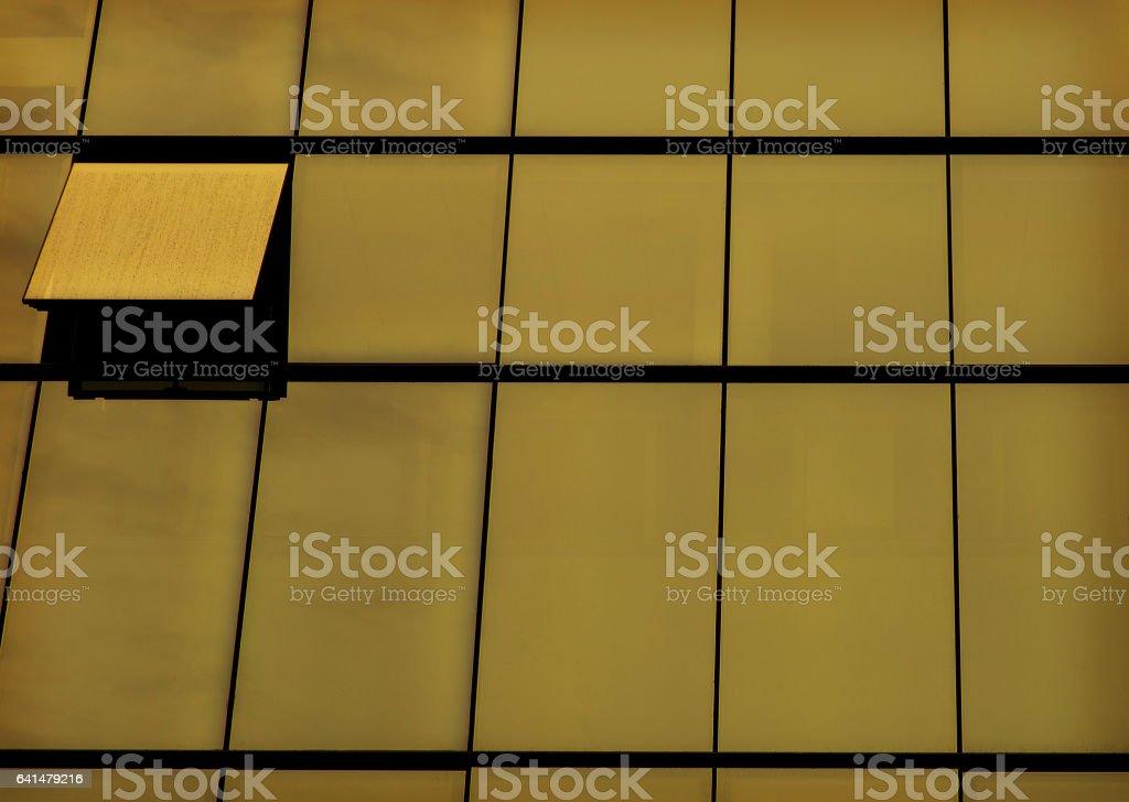yellow skyscraper stock photo