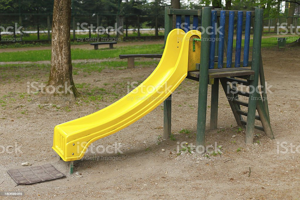 Yellow slide royalty-free stock photo