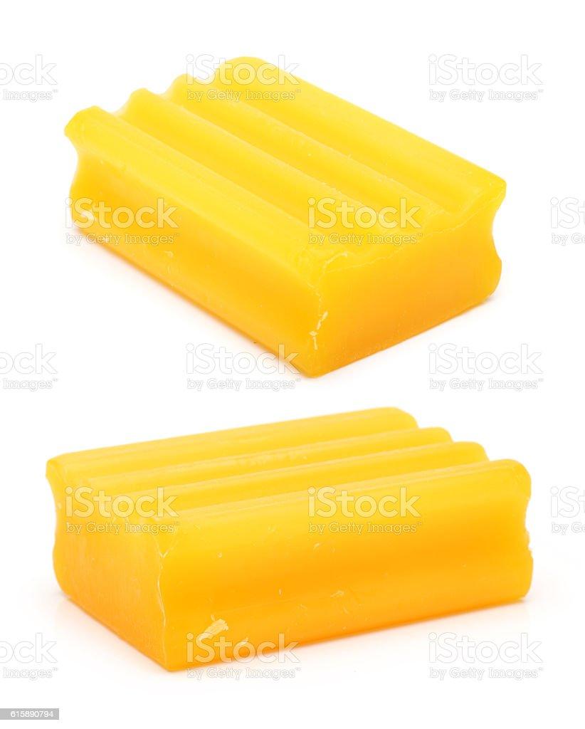 Yellow soap stock photo