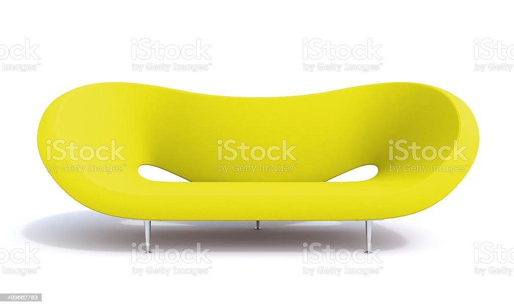 yellow sofa stock photo