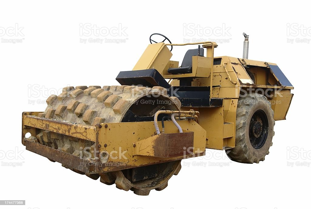 Yellow Soil Compactor royalty-free stock photo