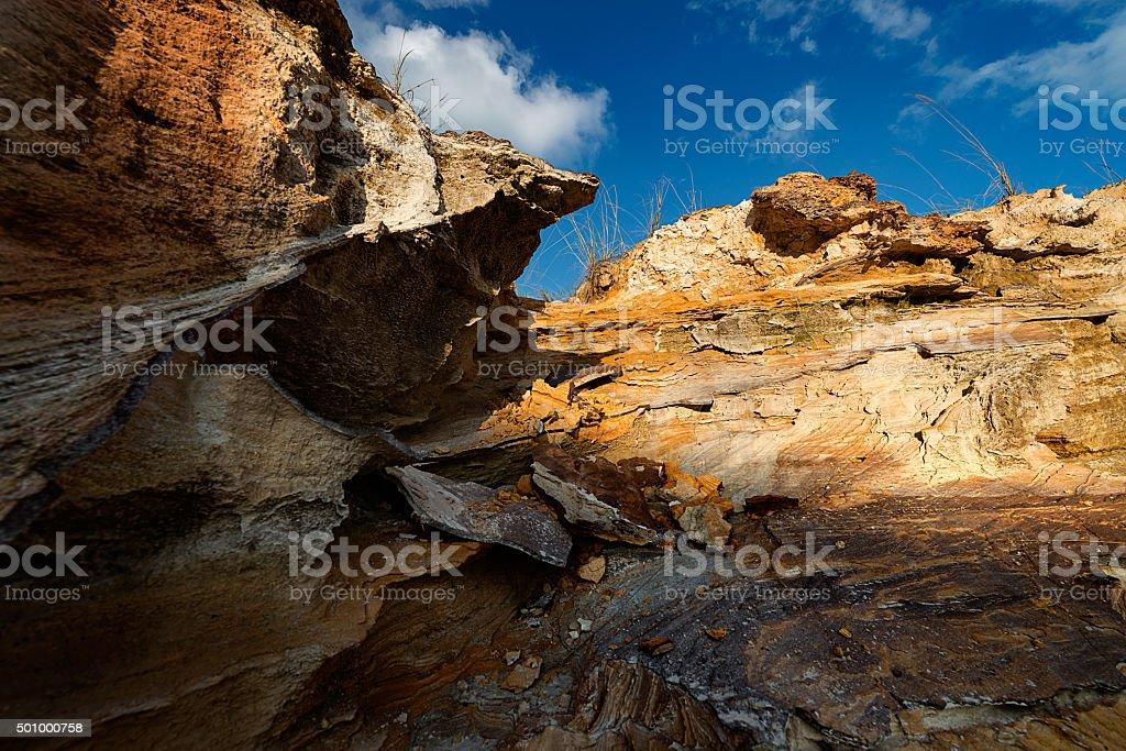 Yellow soil stock photo