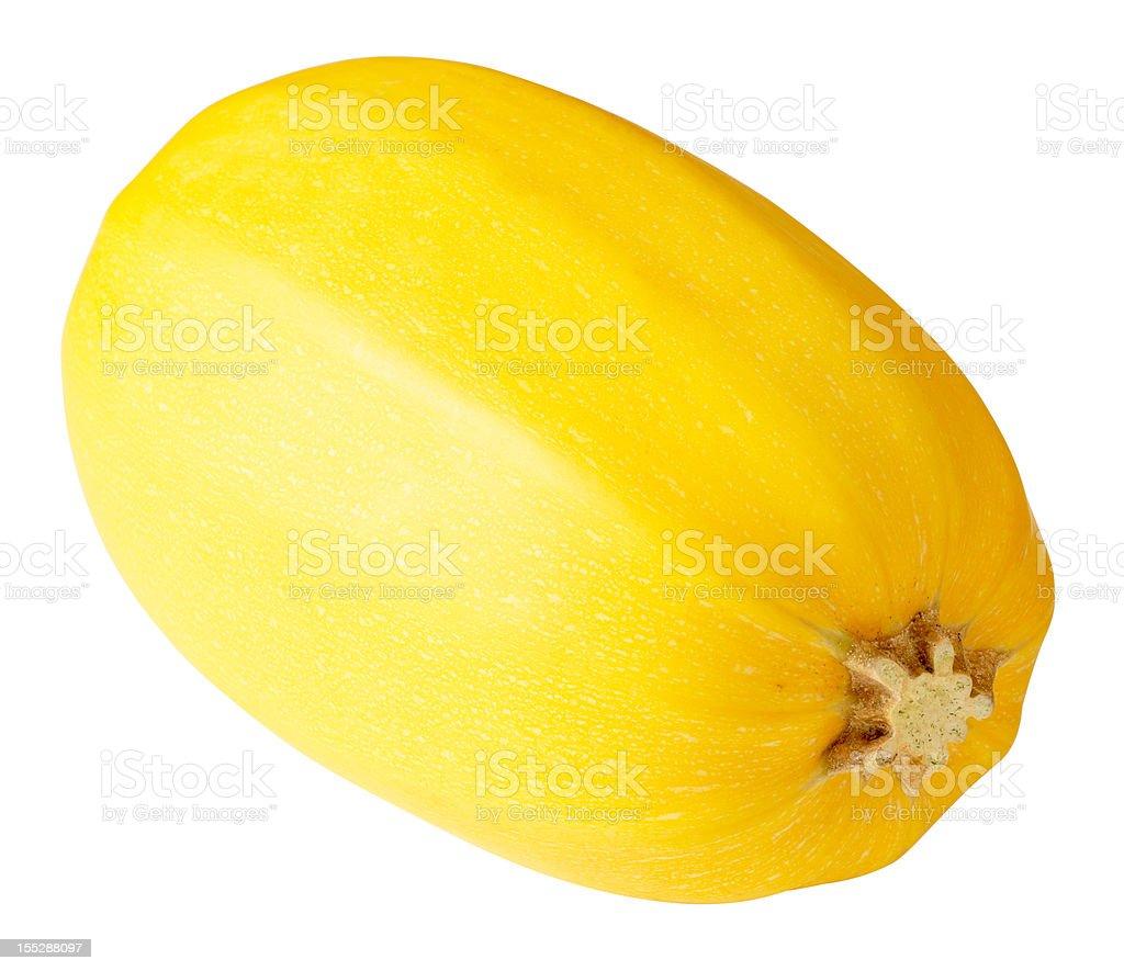 Yellow spaghetti squash on white background stock photo