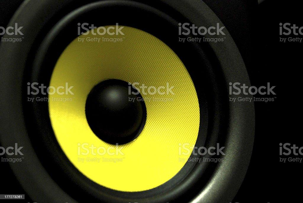 yellow speaker stock photo