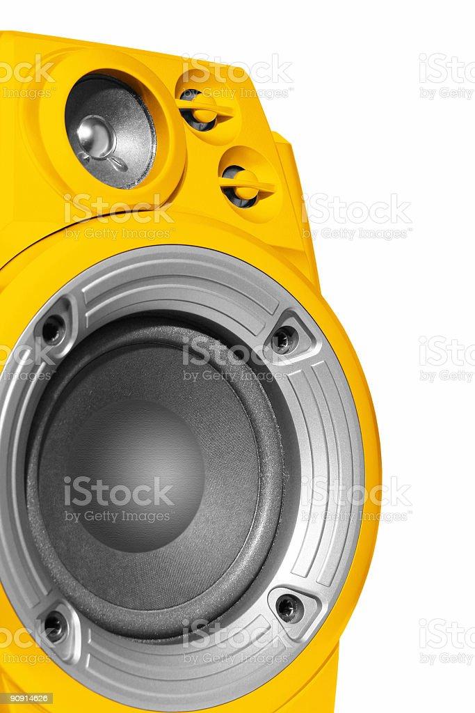 Yellow speaker royalty-free stock photo