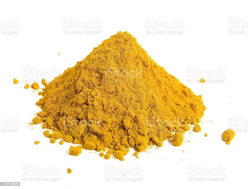Yellow spice stock photo