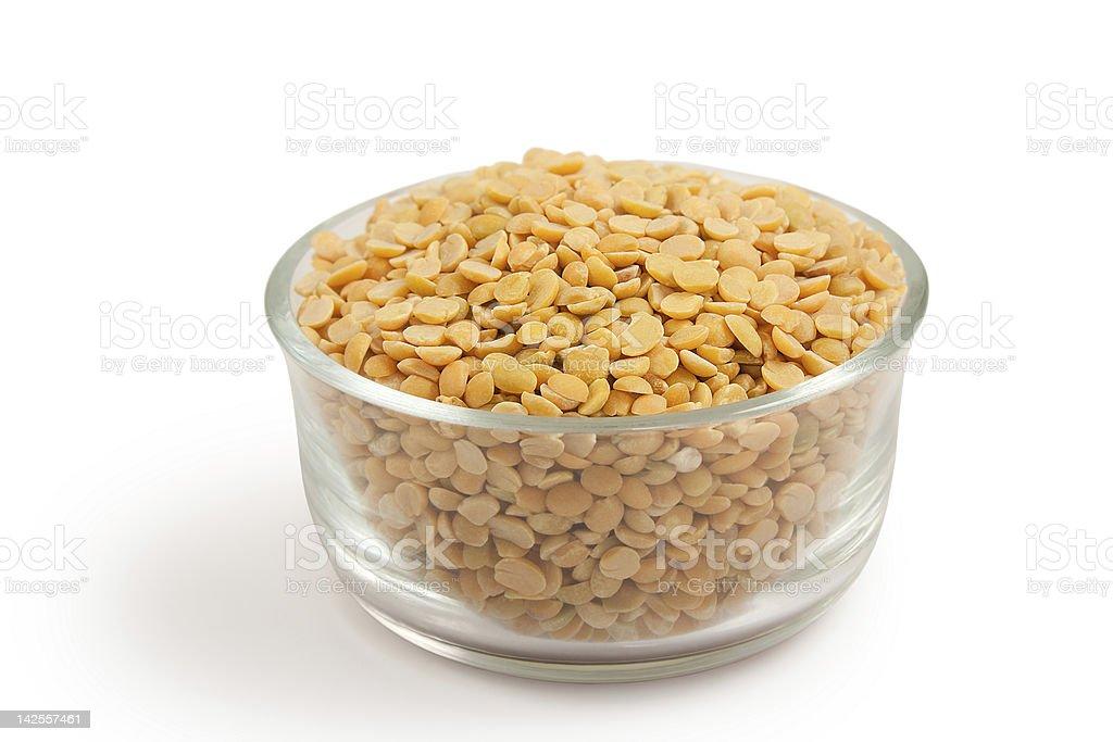 Yellow split peas (daal arhar or lentil ) stock photo