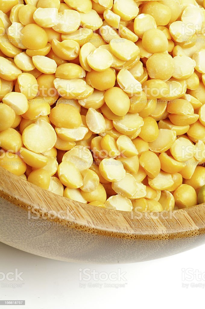 Yellow Split Peas royalty-free stock photo