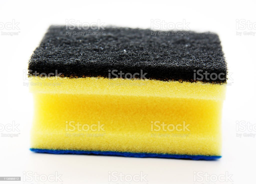Yellow sponge royalty-free stock photo