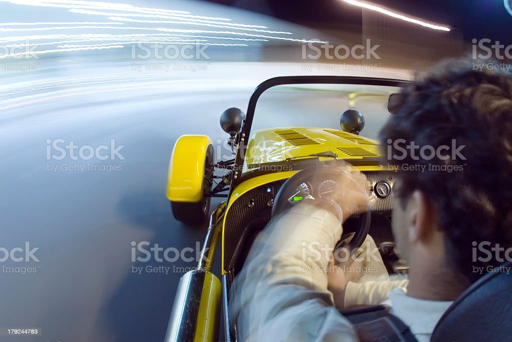 Yellow sports car royalty-free stock photo