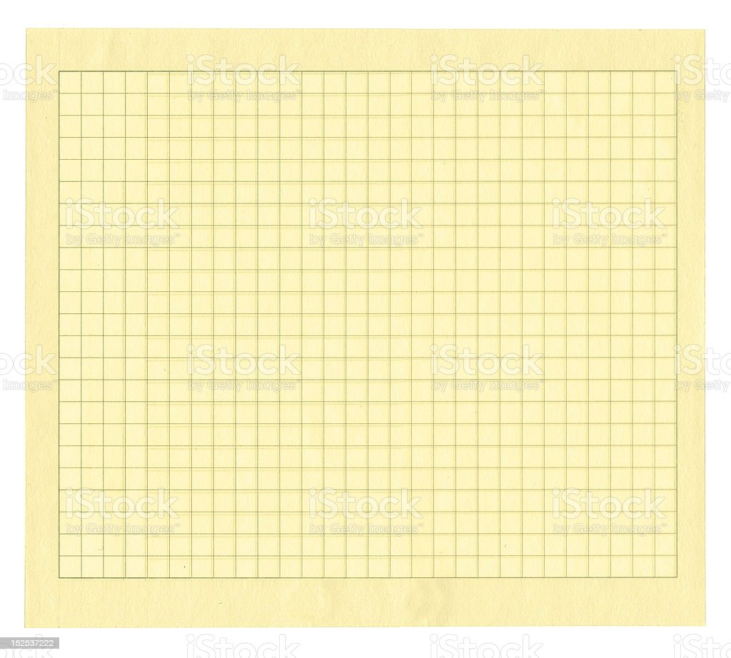 yellow squared paper royalty-free stock photo