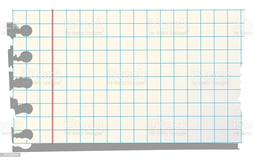 Yellow Squared Paper Sheet stock photo