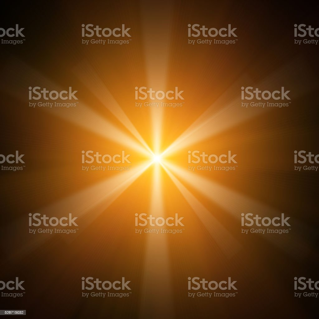 Yellow Star Light stock photo