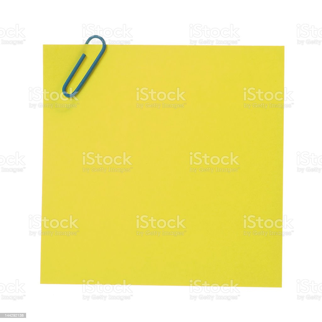 Yellow stick [with clipping path] stock photo