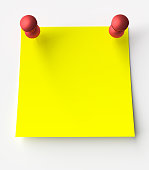 Yellow sticker label