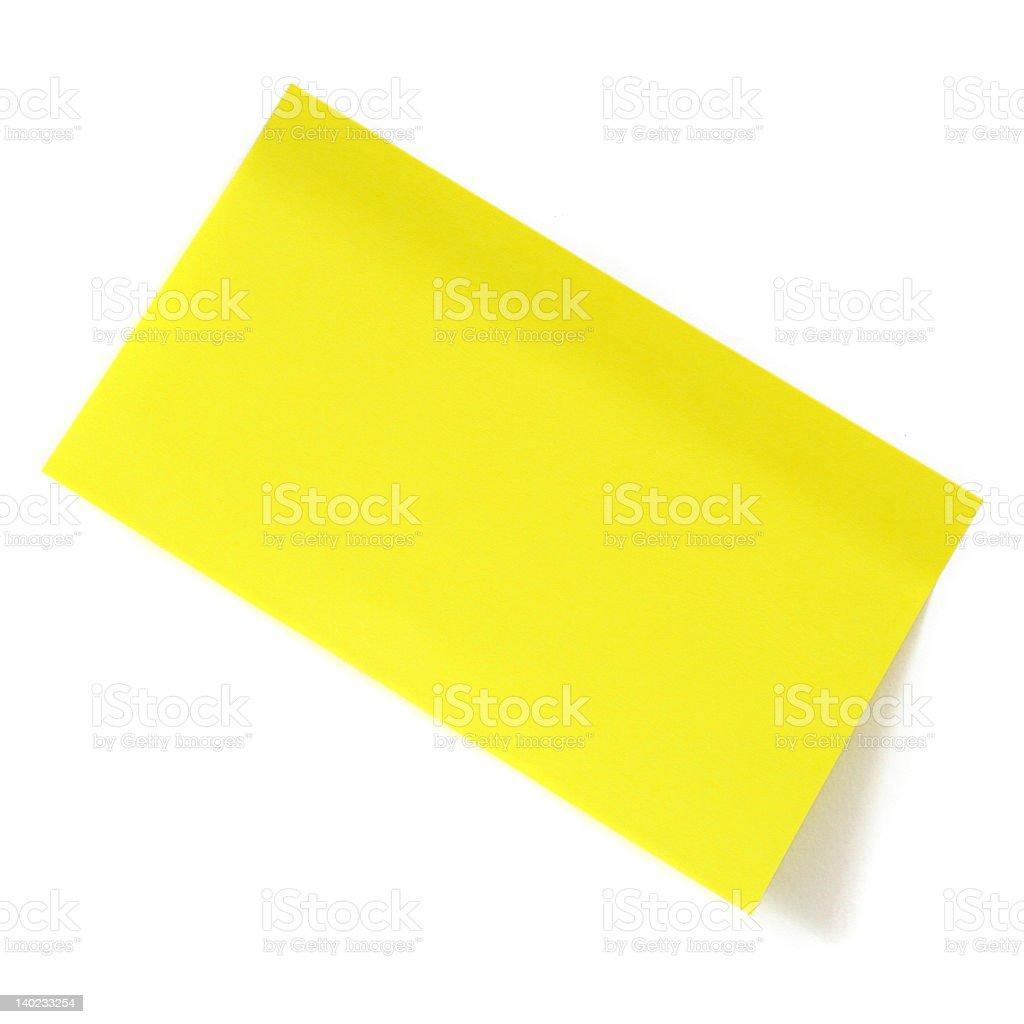 Yellow sticker stock photo