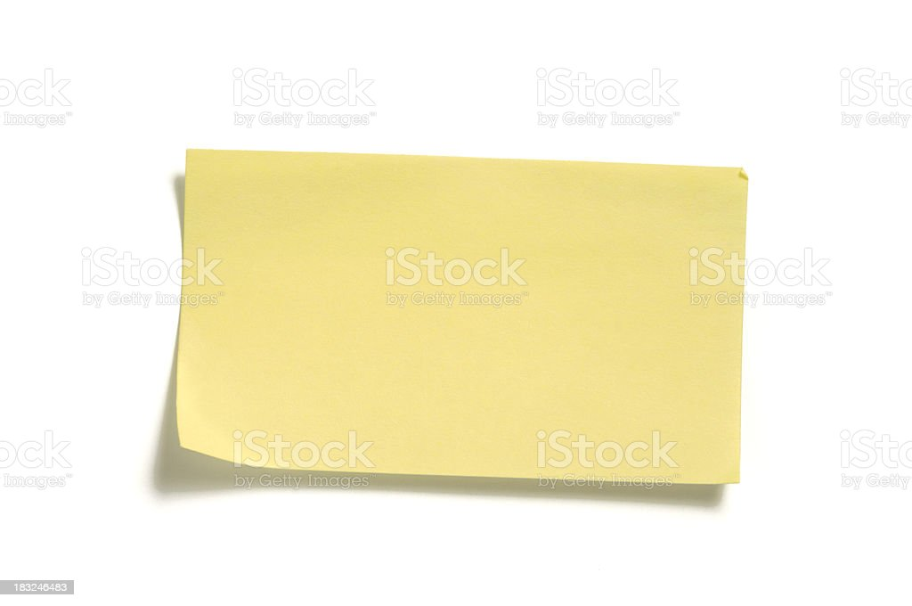yellow sticky note 012 royalty-free stock photo