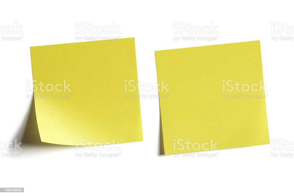 Yellow sticky note royalty-free stock photo