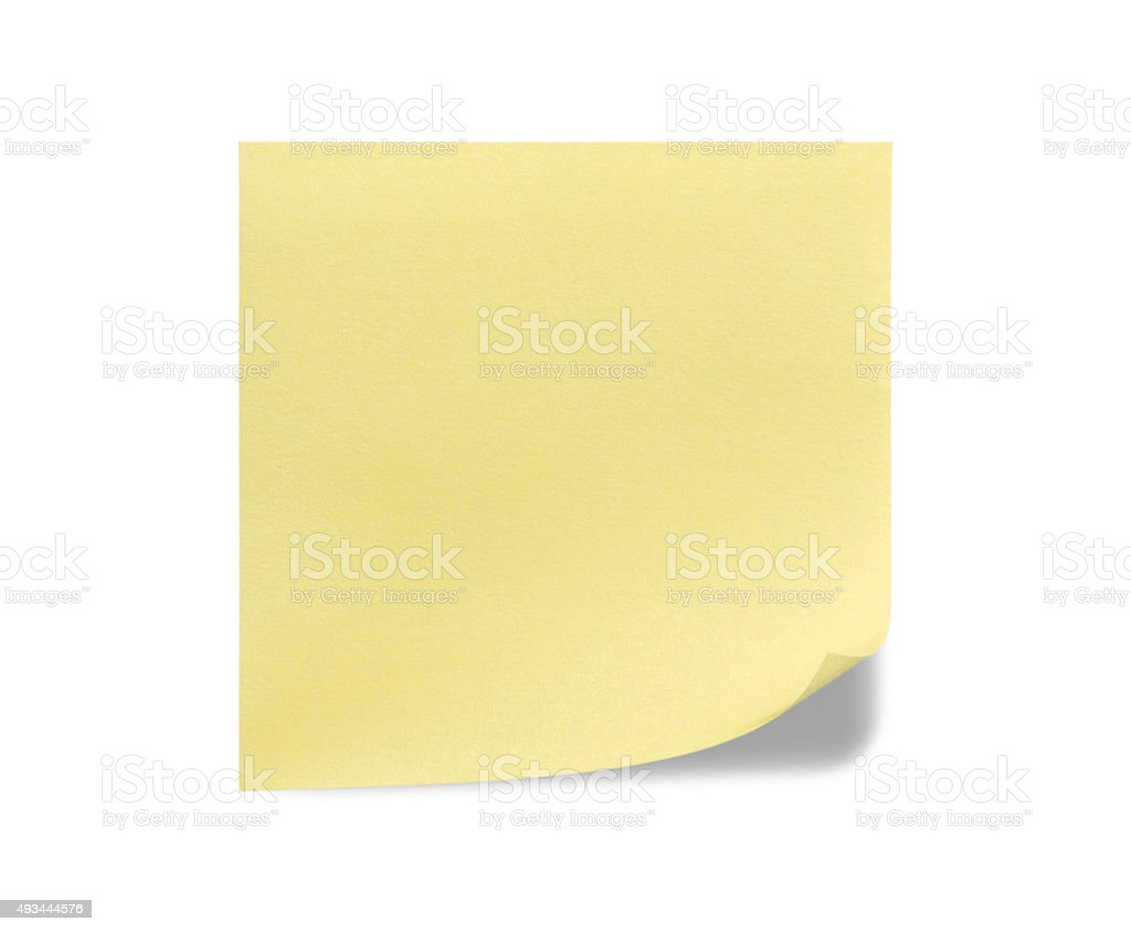 Yellow Sticky Note stock photo