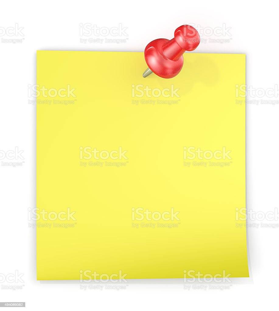 Yellow Sticky Note. stock photo