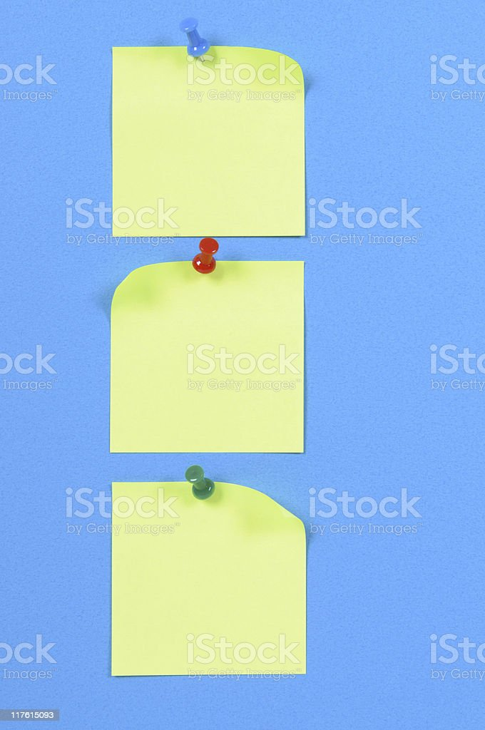 Yellow sticky notes (XL) royalty-free stock photo