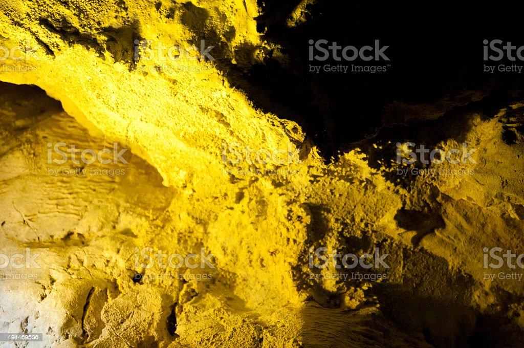 yellow stone/ limestone stock photo