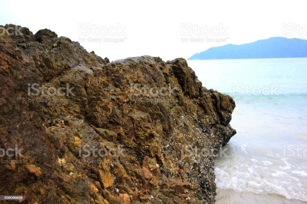 yellow stone stock photo