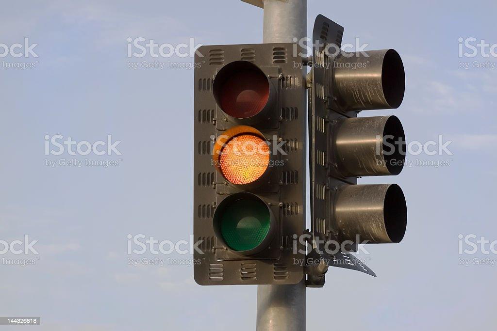 Yellow Stop Light stock photo