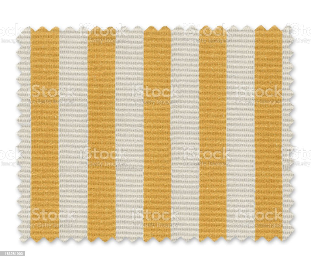 Yellow Striped Fabric Swatch royalty-free stock photo