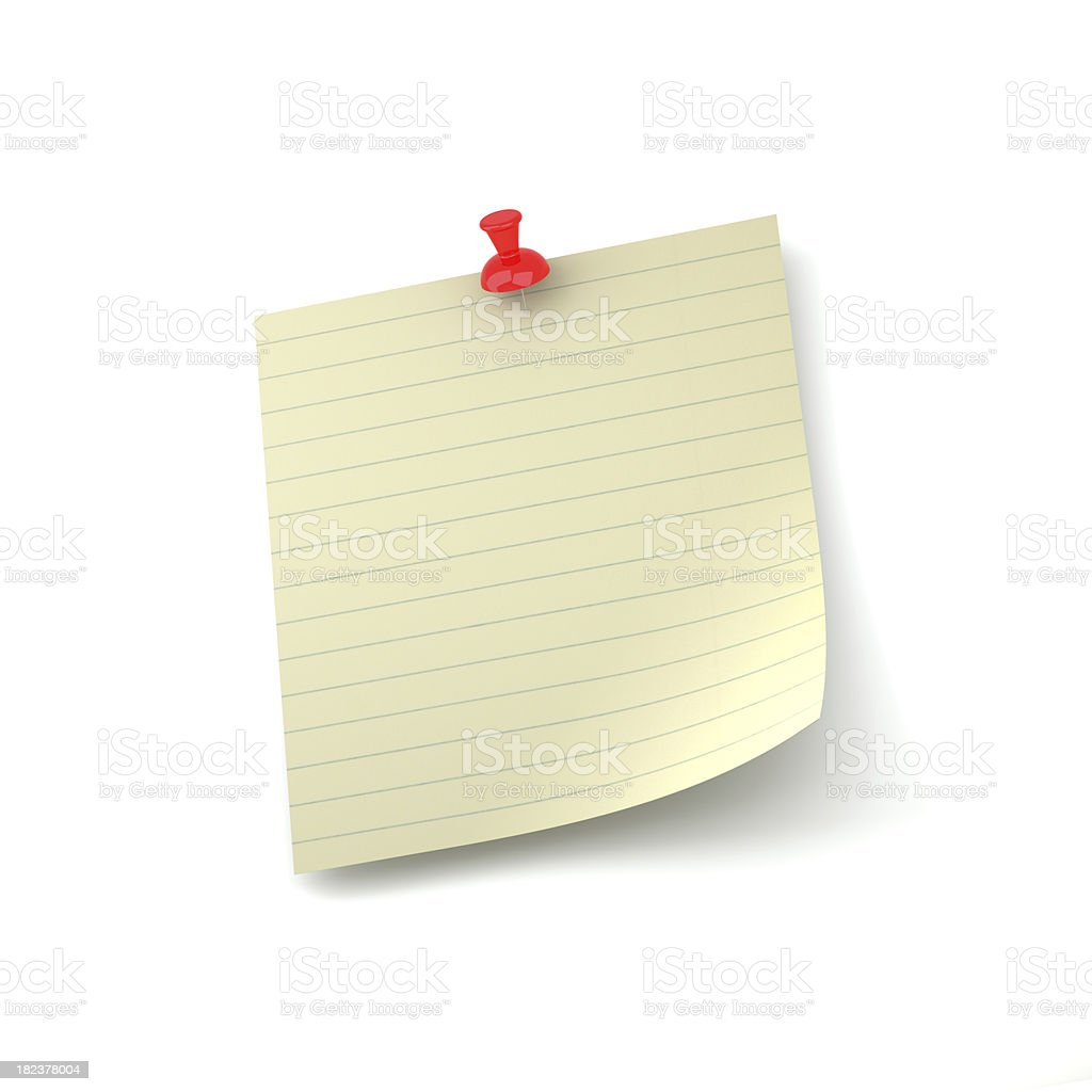 Yellow Striped Note Paper royalty-free stock photo
