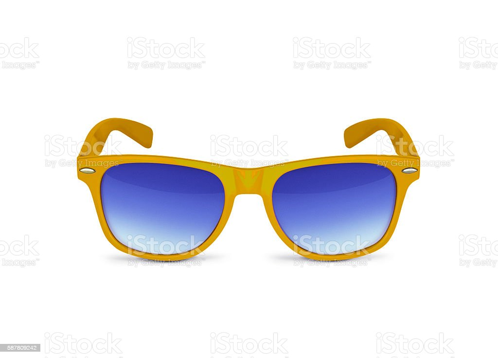 Yellow sun glasses stock photo