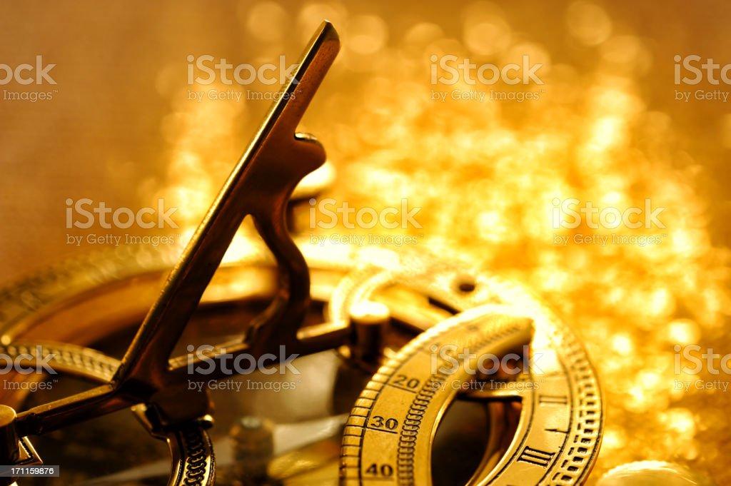 Yellow sundial stock photo