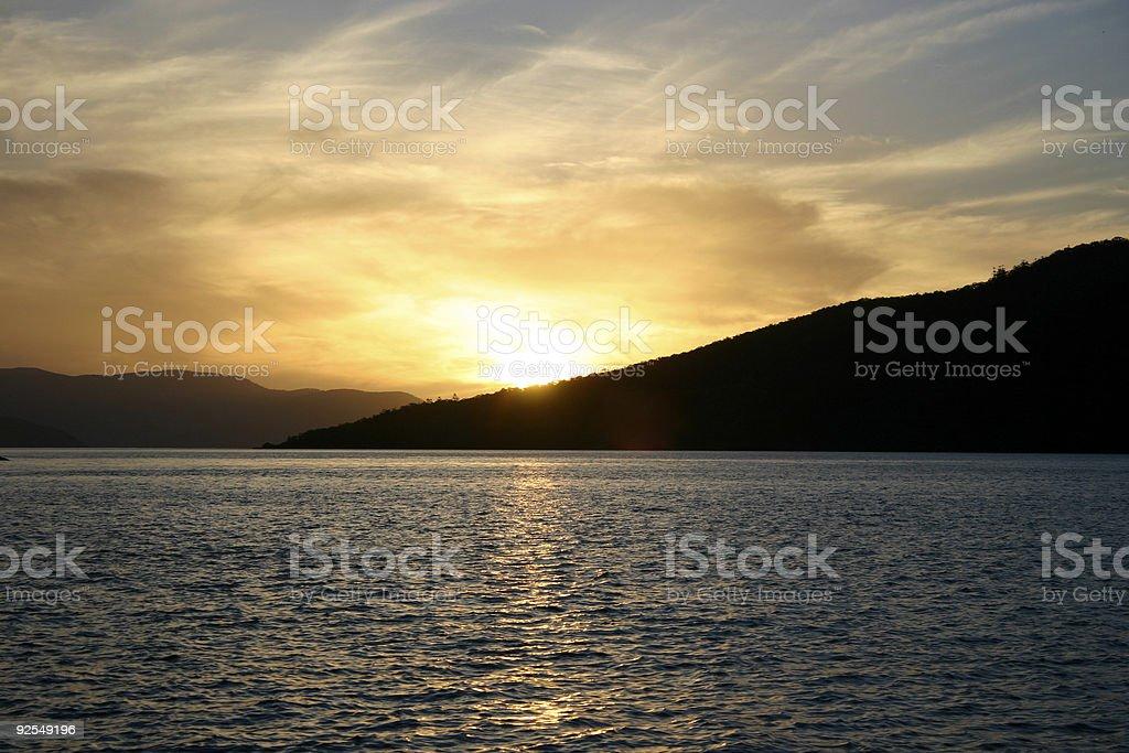 Yellow Sunset royalty-free stock photo