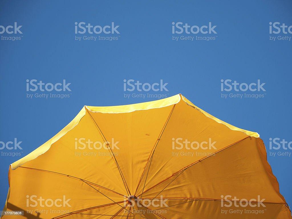 yellow sunshade royalty-free stock photo