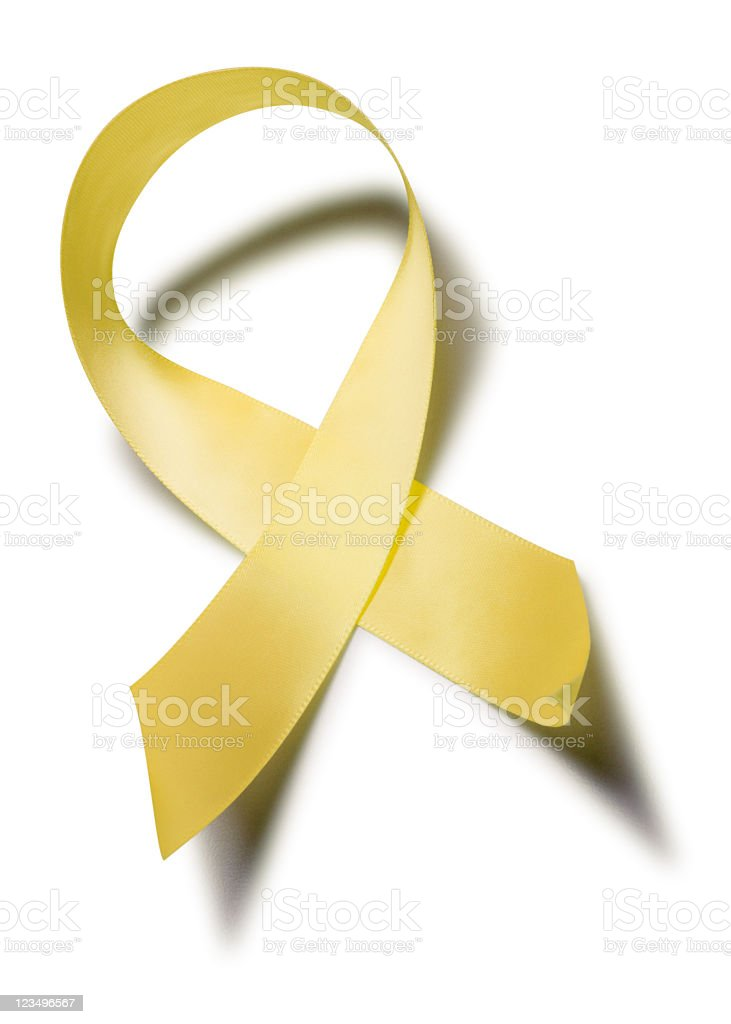 yellow support our troops ribbon stock photo