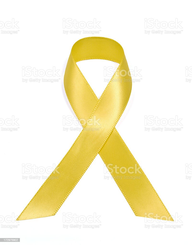 Yellow Support Our Troops Ribbon royalty-free stock photo