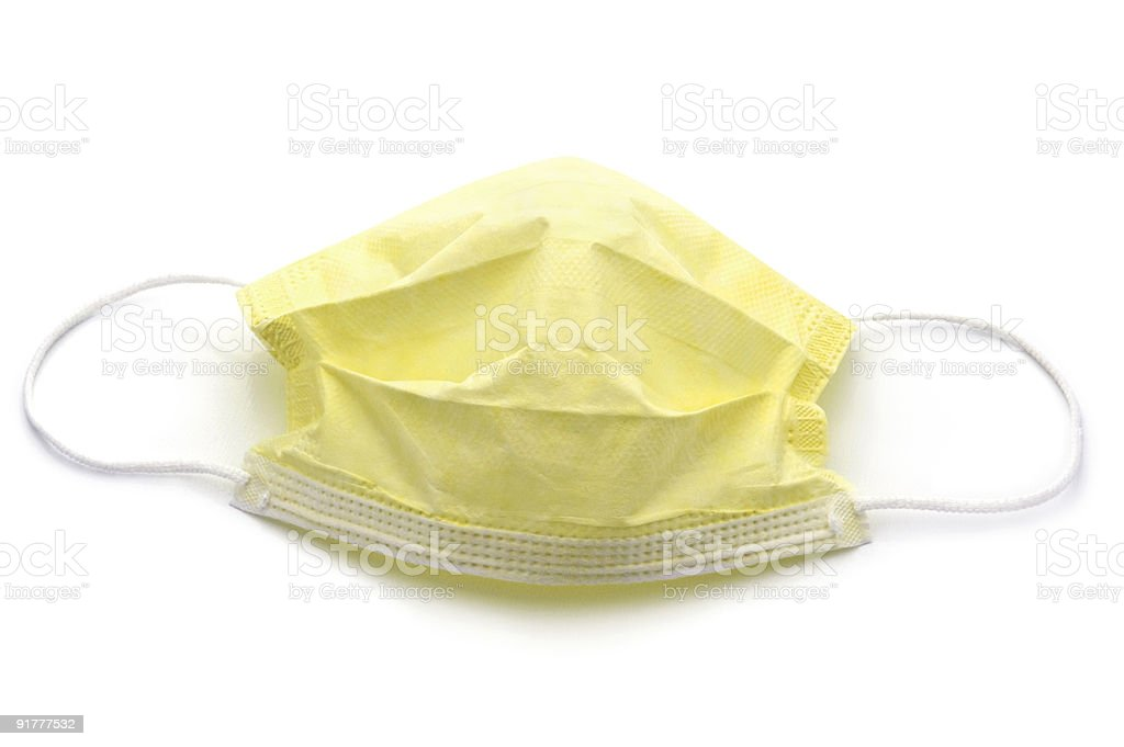 Yellow Surgical Mask stock photo
