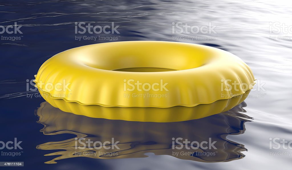 Yellow swim ring stock photo