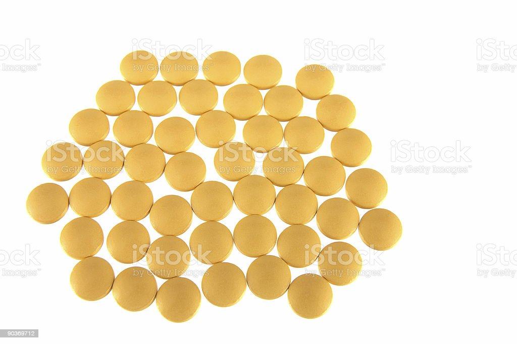 Yellow tablets stock photo