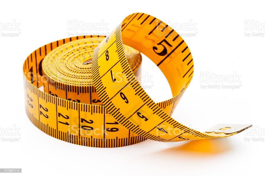 Yellow tailor meter stock photo